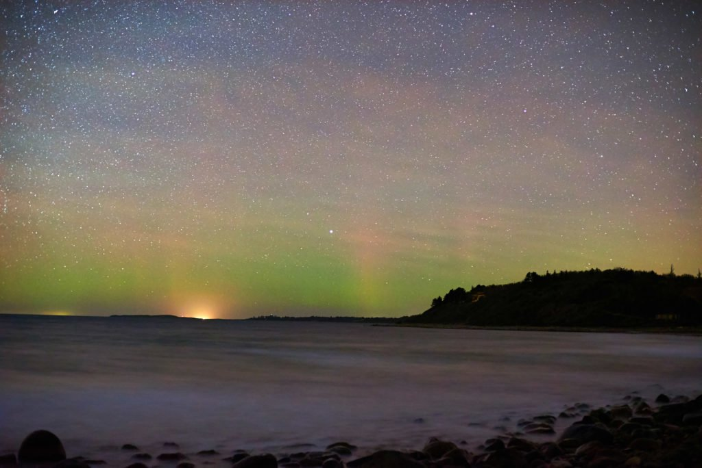You can see the aurora from