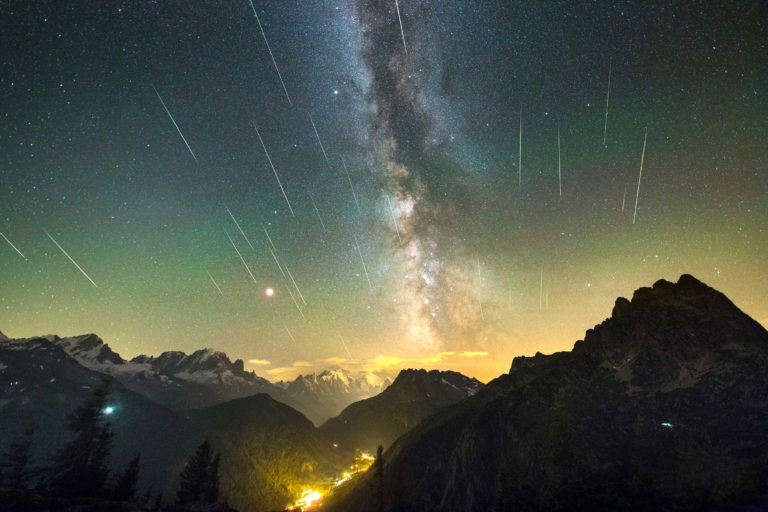 incoming meteor shower