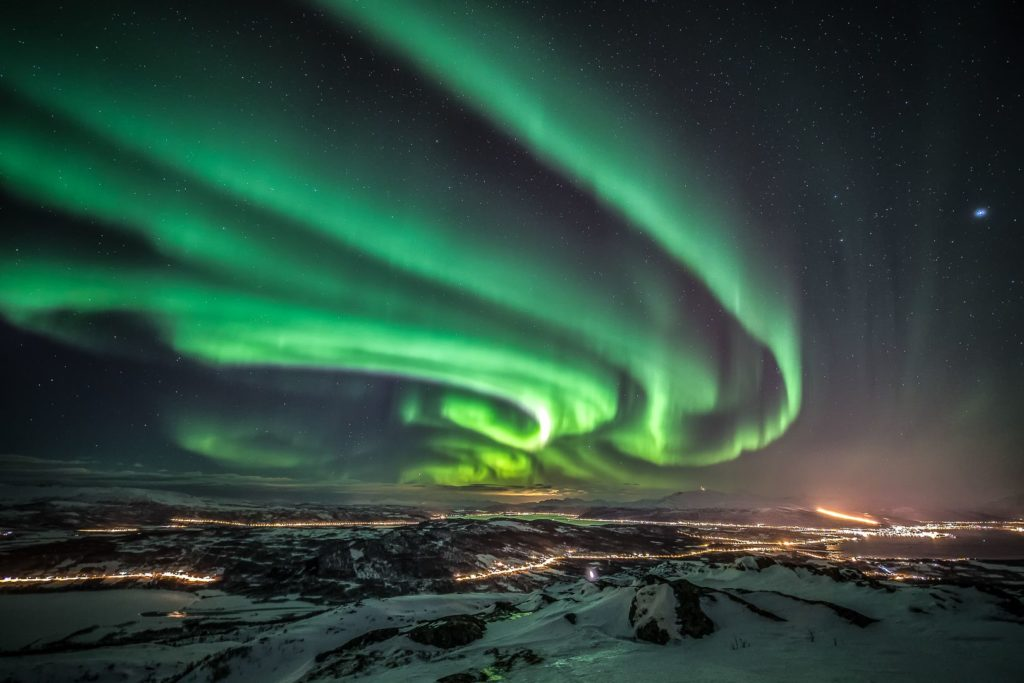 astronomy at the aurora borealis observatory