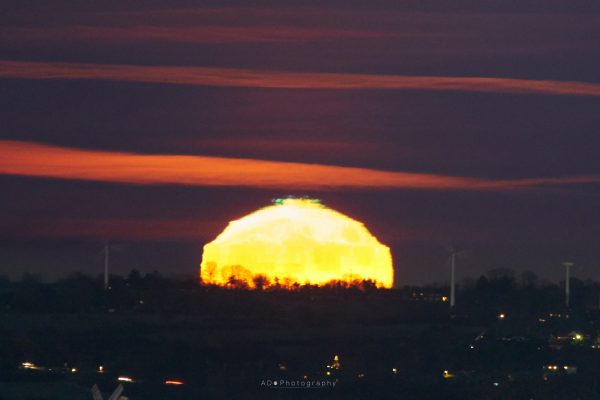 green flash in the sky
